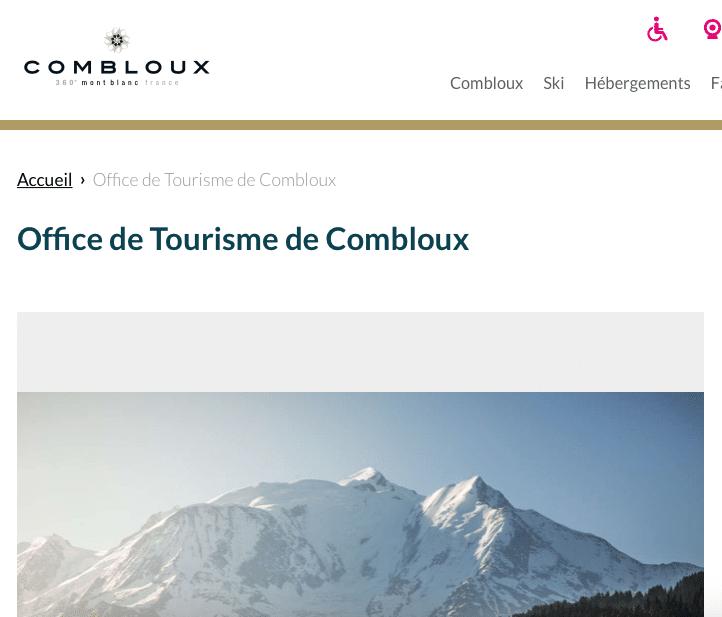 site web de combloux, reservation en ligne