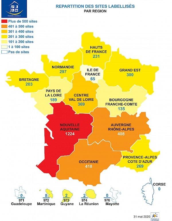 tourisme et handicap, régions